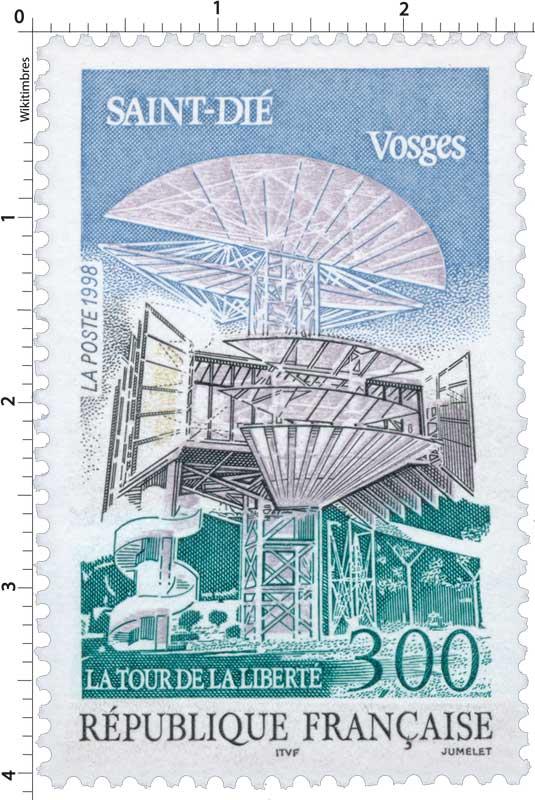Timbre : 1998 SAINT-DIÉ Vosges LA TOUR DE LA LIBERTÉ ...