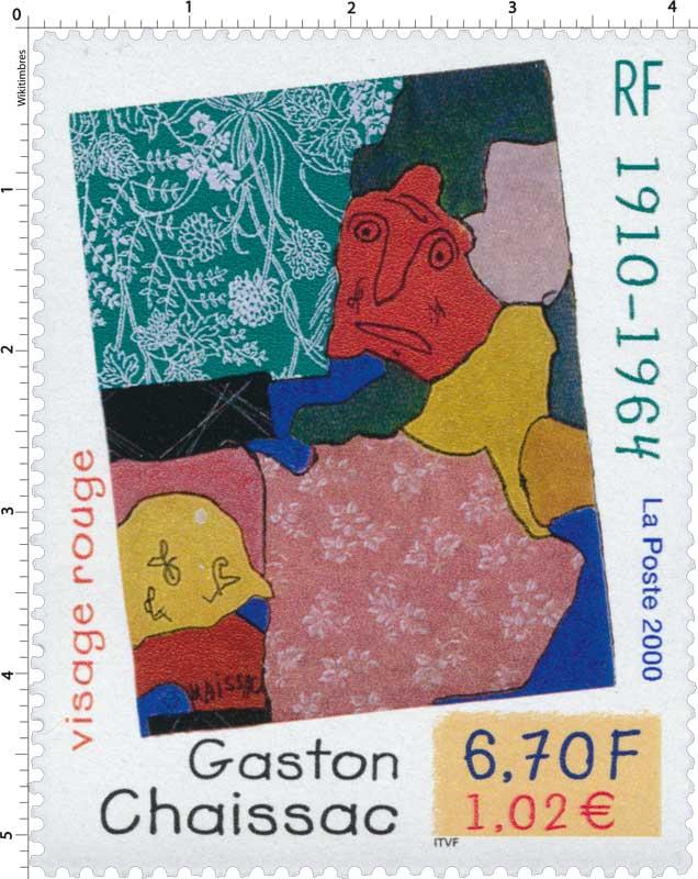 2000 Gaston Chaissac 1910 -1964 visage rouge