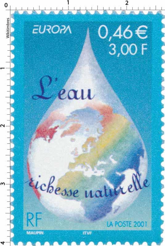 2001 EUROPA L'eau richesse naturelle