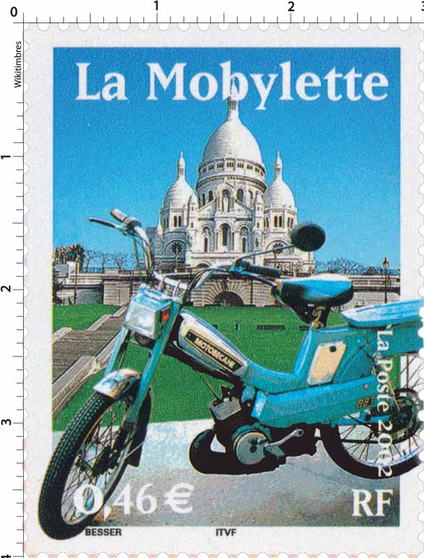 Timbre : 2002 La Mobylette | WikiTimbres