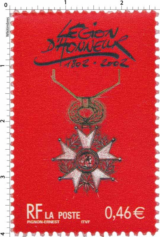 LÉGION D'HONNEUR 1802-2002