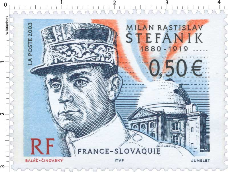2003 MILAN RASTISLAV ŠTEFÁNIK 1880-1919 FRANCE-SLOVAQUIE