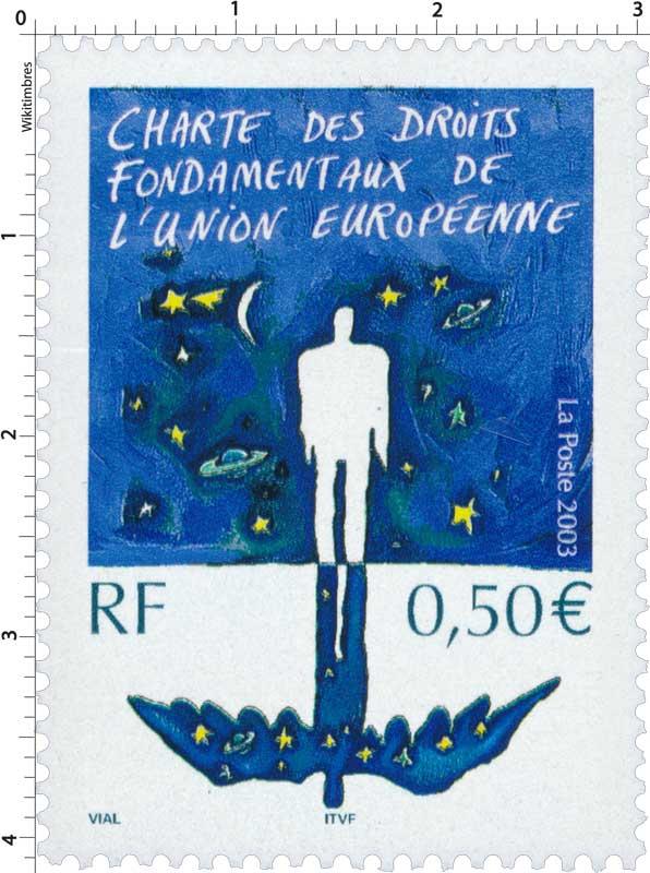 2003 CHARTE DES DROITS FONDAMENTAUX DE L'UNION EUROPÉENNE