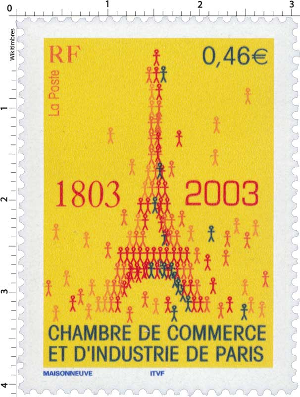 Timbre chambre de commerce et d 39 industrie de paris 1803 for Chambre de commerce de paris