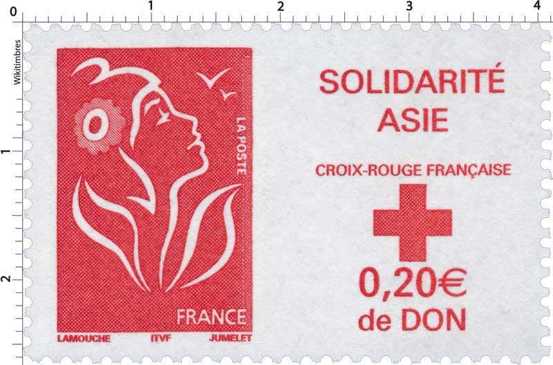 SOLIDARITÉ ASIE CROIX-ROUGE FRANÇAISE 0,20 € de Don