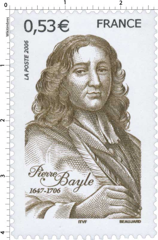 Timbre : 2006 Pierre Bayle 1647-1706 | WikiTimbres
