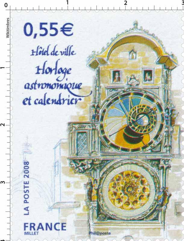 2008 Hôtel de ville Horloge astronomique et calendrier