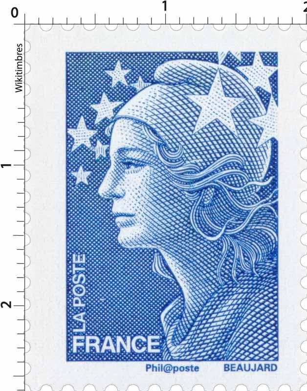Timbre sans l gende particuli re type marianne de for Salon du timbre 2017