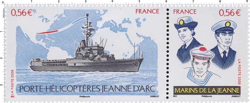 2009 PORTE-HÉLICOPTÈRES JEANNE D'ARC MARINS DE LA JEANNE
