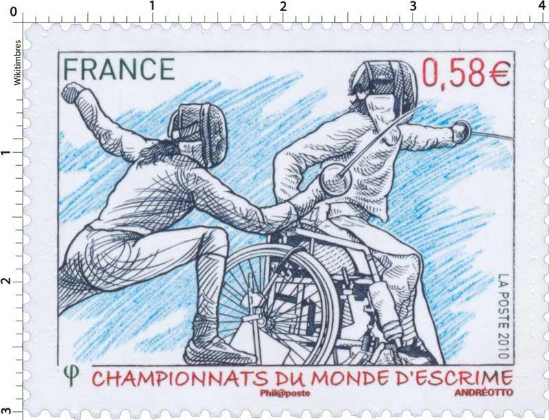 2010 CHAMPIONNATS DU MONDE D'ESCRIME