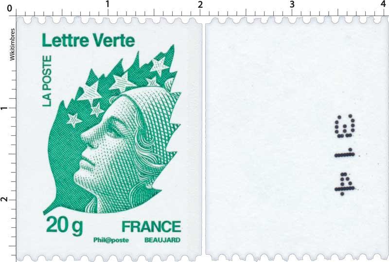 lettre verte timbre Timbre : Lettre Verte 20g | WikiTimbres lettre verte timbre