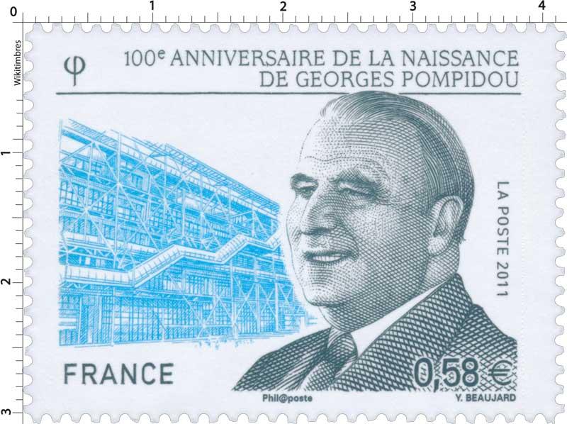 2011 100e anniversaire de la naissance de Georges Pompidou