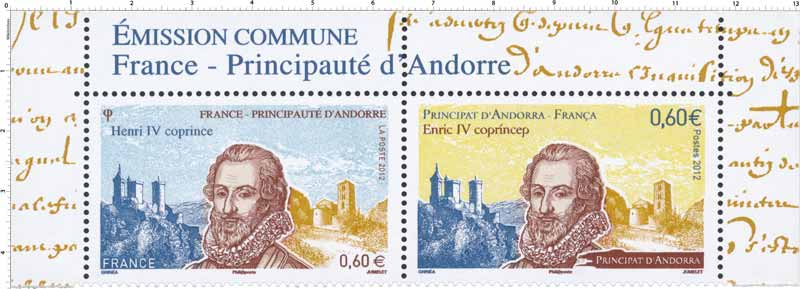 Henri IV coprince France-Principauté d'Andorre