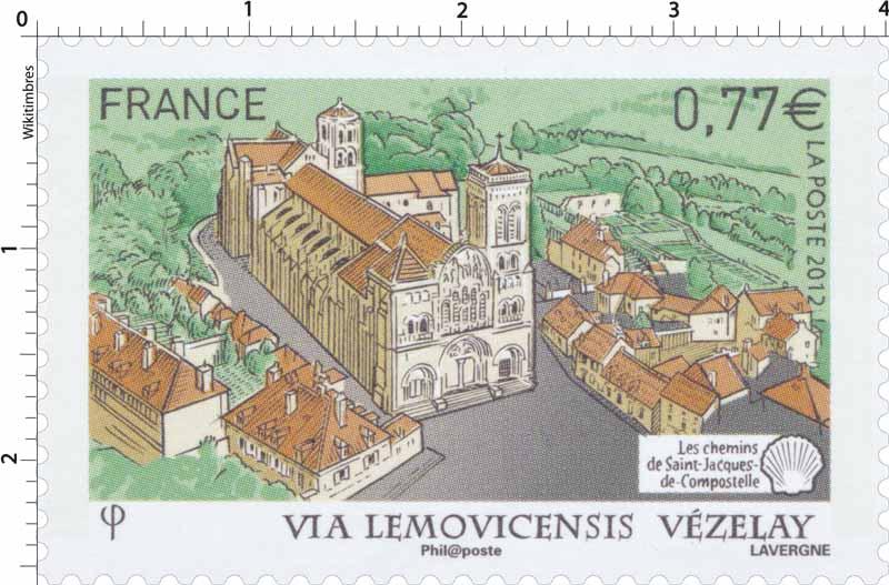 2012 Via Lemovicensis Vézelay Les chemins de Saint-Jacques-de-Compostelle