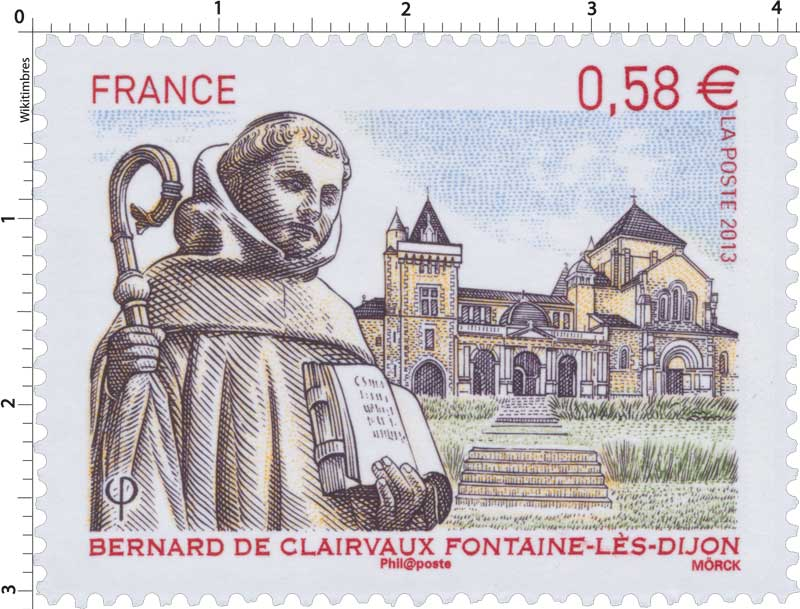 Timbre 2013 bernard de clairvaux fontaine l s dijon for Espace famille fontaine les dijon