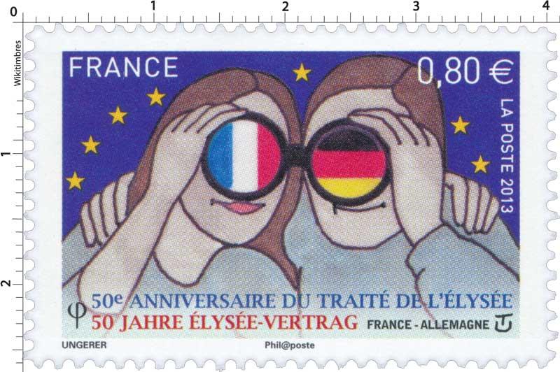 2013 50e Anniversaire du traité de l'Élysée 50 Jahre Elysée-vertrag