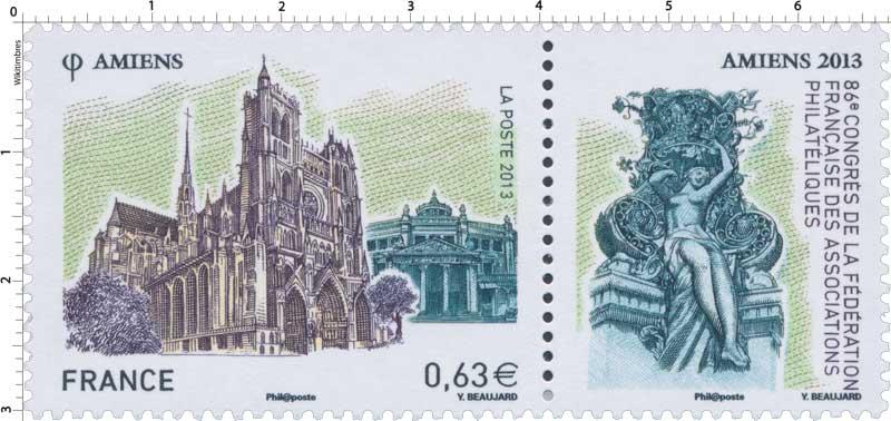2013 86e congrès de la Fédération française des associations philatéliques Amiens