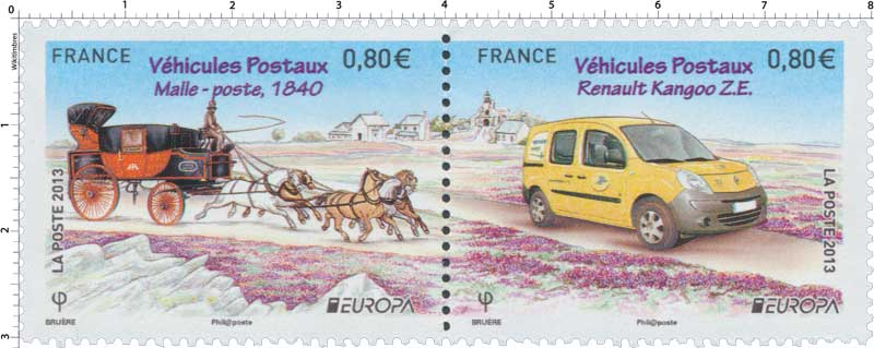 2013 Europa Véhicules Postaux Malle-poste 1840 Renault Kangoo ZE