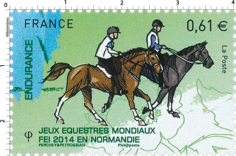 2014 Jeux Équestres Mondiaux FEI en Normandie ENDURANCE