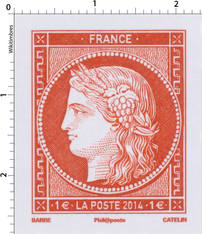 2014 Salon du timbre - Paris - Cérès 1849