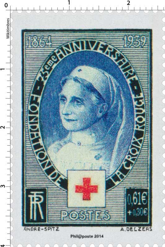 2014 75ème ANNIVERSAIRE - FONDATION DE LA CROIX-ROUGE 1864-1939