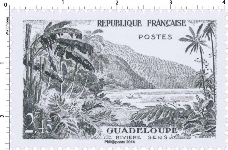 2014 Trésors de la Philatélie GUADELOUPE RIVIÈRE SENS