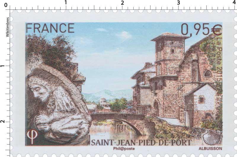 Timbre 2015 saint jean pied de port wikitimbres - Distance st jean pied de port st jacques de compostelle ...