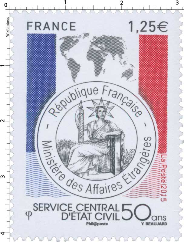 2015 Service Central d'État Civil 50 ans - République Française - Ministère des Affaires Etrangères