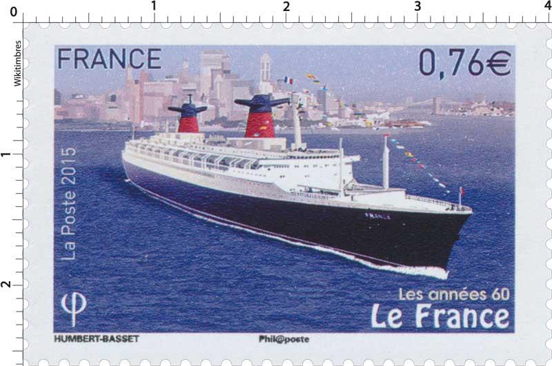 Timbre 2015 les ann es 60 le france wikitimbres - Les annees 60 en france ...