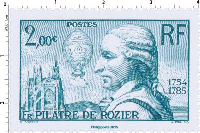 2015 Fr. Pilâtre de Rozier 1754-1785