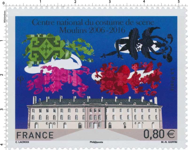2016 Centre national du costume de scène Moulins 2006 - 2016