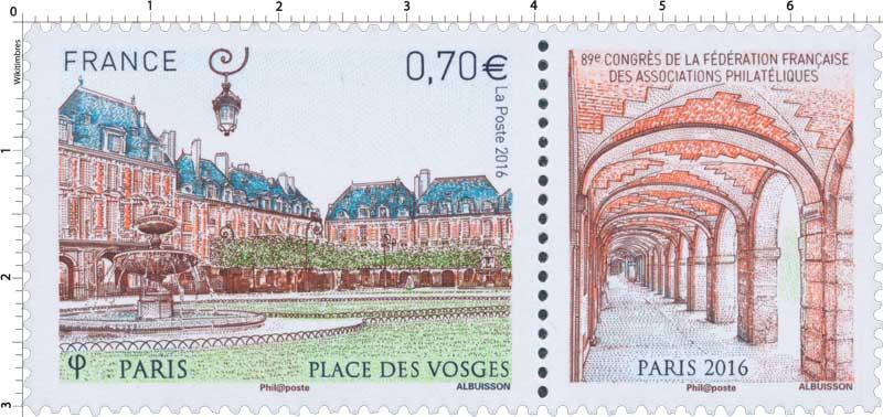 2016 Place des Vosges - 89e Congrès de la fédération française des associations philatéliques