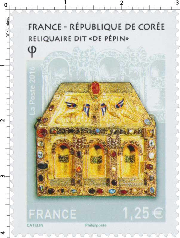 timbre 2016 france r publique de cor e reliquaire dit de p pin wikitimbres. Black Bedroom Furniture Sets. Home Design Ideas