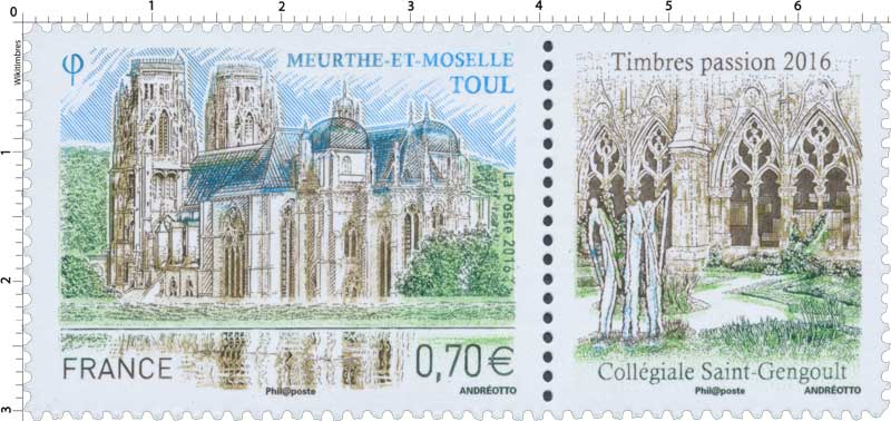 MEURTHE-ET-MOSELLE TOUL Timbres passion 2016