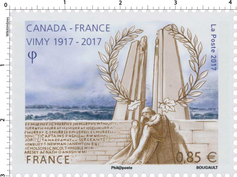 2017  Canada - France  Vimy 1917 - 2017