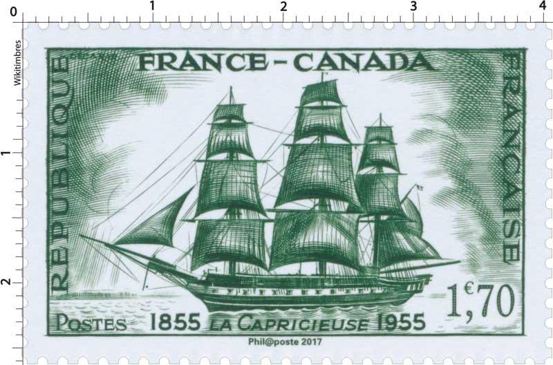 Trésors de la Philatélie 2017 - FRANCE-CANADA LA CAPRICIEUSE 1855-1955