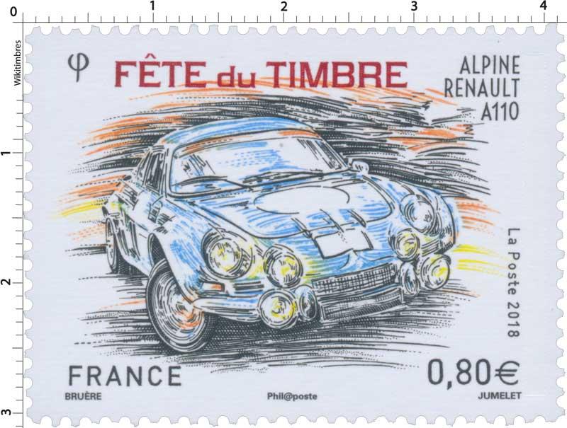 2018 Fête du Timbre - Alpine Renault A110