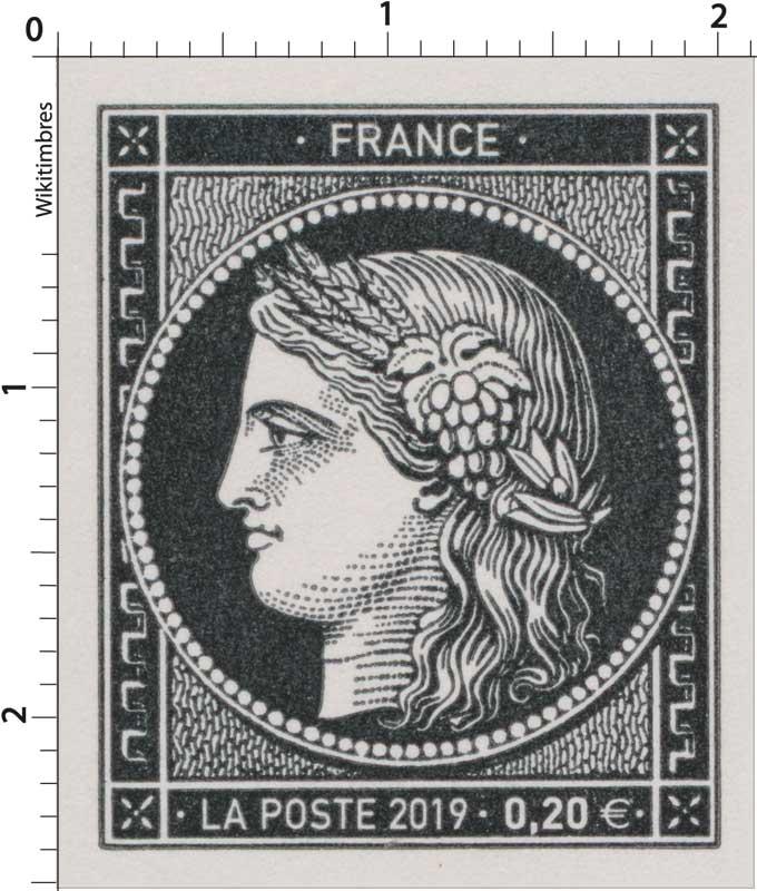 1849-2019 170 ans du premier timbre-poste français
