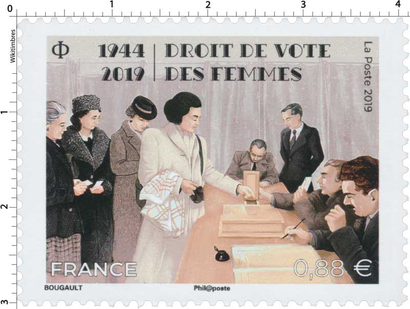 1944-2019 - DROIT DE VOTE DES FEMMES