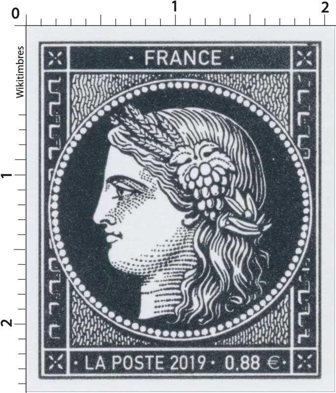 1849 -2019- 170 ans du premier timbre-poste français