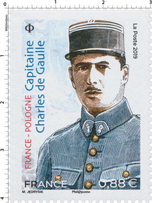 2019 FRANCE - POLOGNE  Capitaine Charles de Gaulle