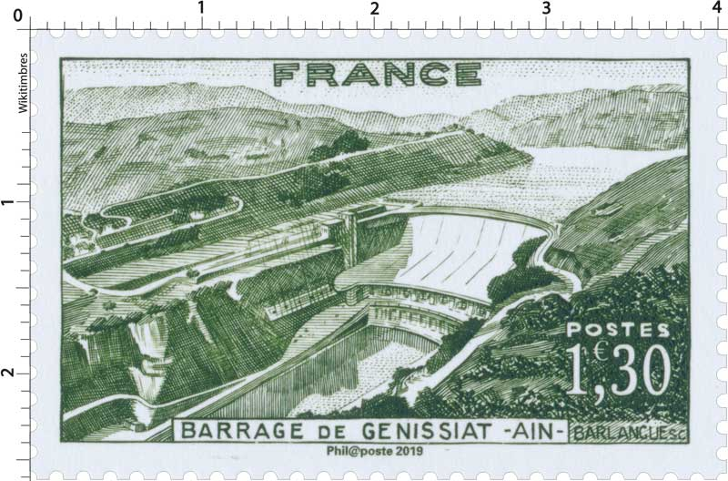 2019 Patrimoine de France - BARRAGE DE GÉNISSIAT - AIN