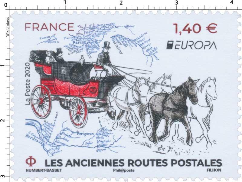 2020 EUROPA LES ANCIENNES ROUTES POSTALES