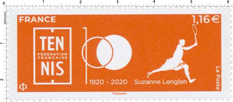 2020 Fédération française  - Tennis - SUZANNE LENGLEN 1920-2020
