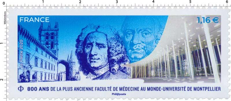 2020 800 ANS DE LA PLUS ANCIENNE FACULTÉ DE MÉDECINE AU MONDE - UNIVERSITÉ DE MONTPELLIER