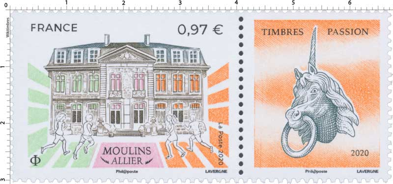 2020 Moulin Allier - Timbres passion