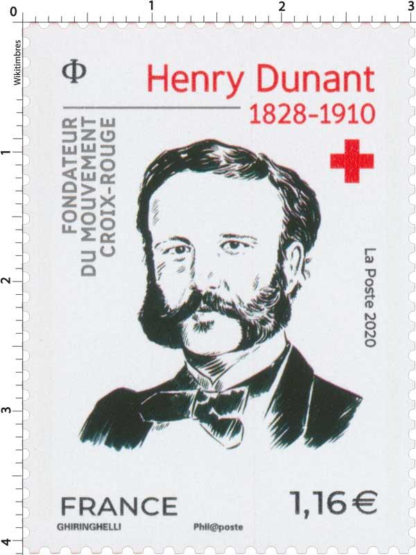 2020 Henry Dunant 1828 - 1910 Fondateur du mouvement Croix-Rouge