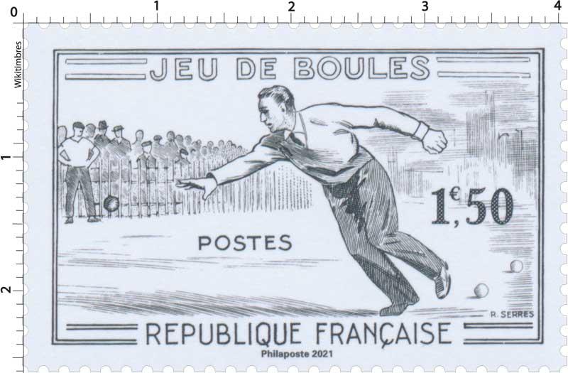 2021 Patrimoine de France - JEUX DE BOULES