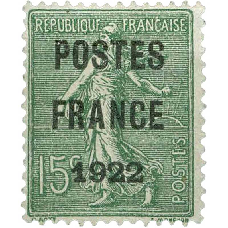1921 POSTES FRANCE - type semeuse lignée / surchargé