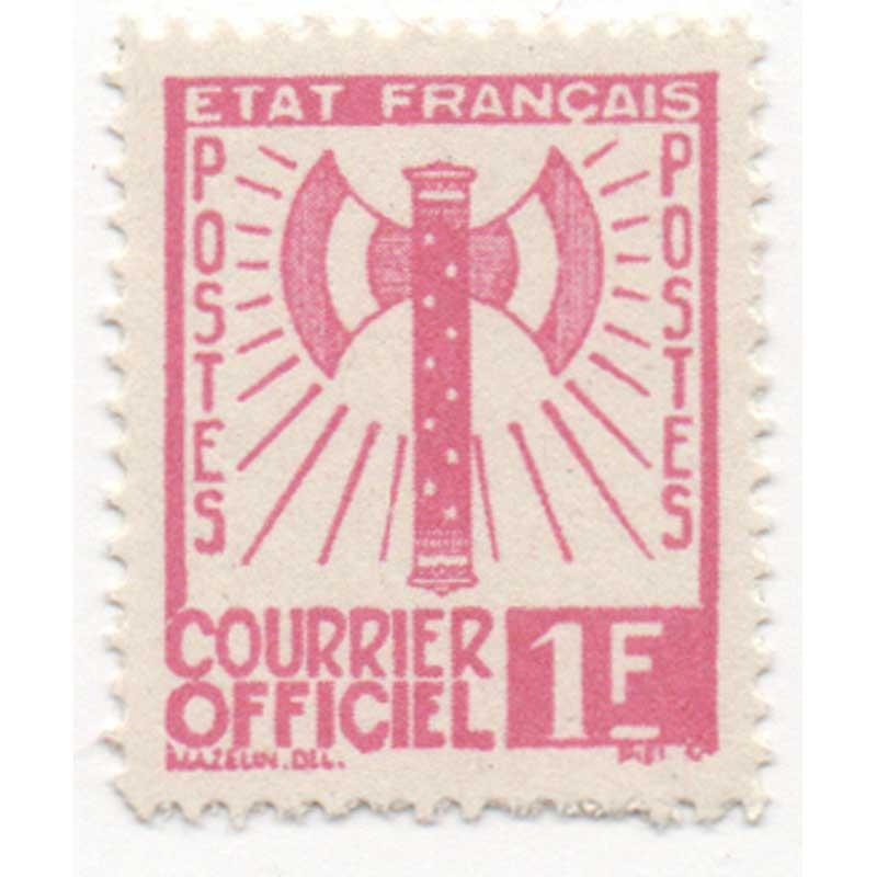 COURRIER OFFICIEL - type francisque
